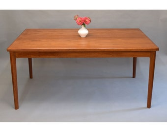 Danish Teak Extension Dining Table with Hidden Leaves