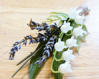 Lavender & Lilly of the Valley Boutonniere