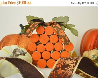 Wine Cork Pumpkin, Fall Pumpkin, Thanksgiving Pumpkin, Ready to Ship!
