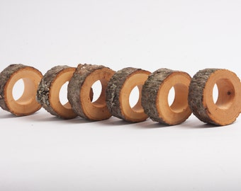 10 Rustic Wedding Napkin Rings, table setting, rustic wedding decoration, rustic ring napkins, napkin holder