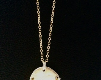 Gold & Silver Disk Necklace