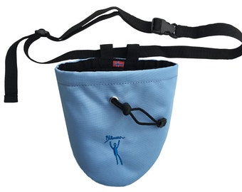 Norwegian rock climbing chalk bag.