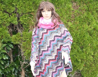 Poncho with headband and leg warmers