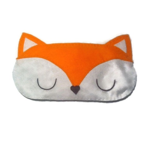 fox eye mask fox sleep mask animal sleep mask felt eye mask. Black Bedroom Furniture Sets. Home Design Ideas