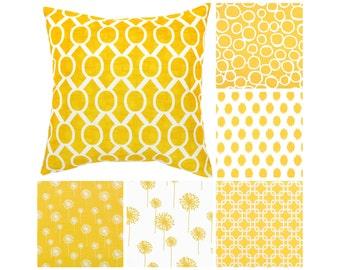 Yellow Throw Pillow Cover.Yellow Toss Pillows.Yellow White Pillows.Yellow Euro Sham.Yellow Flowers Pillow.Yellow Couch Pillows