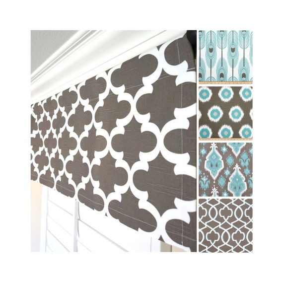 brown window valance aqua valance light blue valance blue. Black Bedroom Furniture Sets. Home Design Ideas