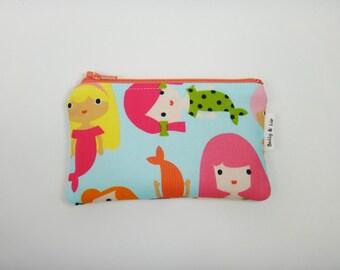 Mermaid Girls Wallet, Kids Wallet, Kids Coin Purse, Toddler Wallet, Children's Wallet, Coin Pouch
