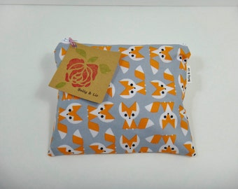 Fox Reusable Snack Bag, Sandwich Bag, Kids Snack Bag, Reusable Sandwich Bag, Travel Bag, Pacifier Pouch, Pet Treat Pouch