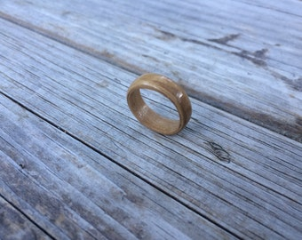 Ash Olive Wooden Wedding Ring, Wooden Engagement Ring, Rosewood ring, wooden ring, promise ring, Bentwood Ring, Size 6