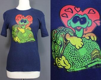 70's Tee Shirt.......70's Vietnam War Era turtle/Helmet Tee