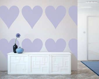 Large Heart  Wall Stencil, Wall Art Stencil  in reusable Mylar, wall art, small to large stencils up to 19.5 x 27.5 inches.