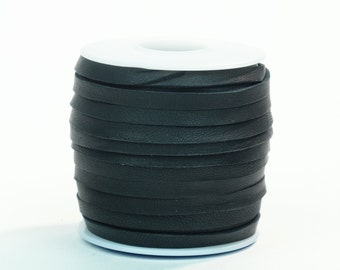 Black Deerskin Lacing - (1) 50 foot spool, 3/16th inch lace.  Deerskin lace.