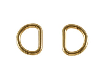 2 pieces Light Gold plated D-Ring 22mm (inner diameter) for Purse Chain Strap d-ring, Purse Findings, Keychain, Purse Ring