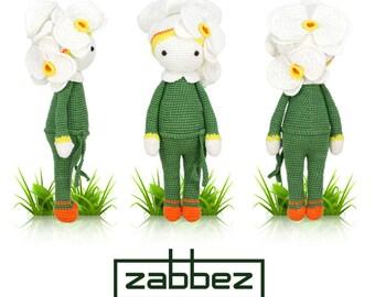 "Crochet pattern amigurumi doll ""Orchid Ollie"" PDF"