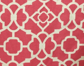 Trellis - Pink - Upholstery Fabric by the Yard