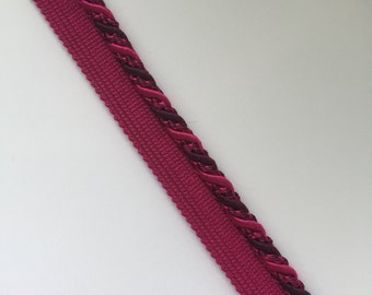 Grape - Fuchsia - Cord - PreFab Cord - Home Decor Trim By The Yard