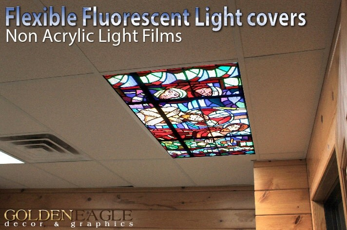 flexible fluorescent light cover films skylight ceiling school. Black Bedroom Furniture Sets. Home Design Ideas