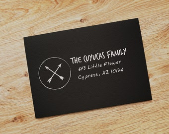 Tribal Family Custom Return Address Stamp - self-inking stamp or clear rubber stamp RA951