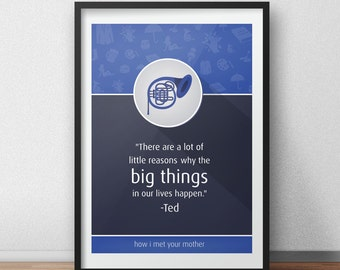 How I Met Your Mother TV Show Art Print - Customizable - With Your Favorite HIMYM Quote - Marshall, Lily, Barney, Ted and Robin