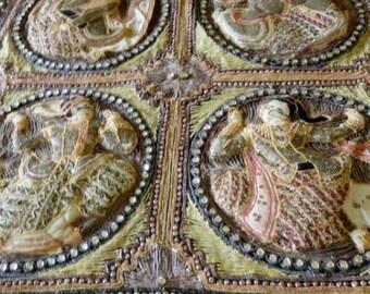 Tapestry, Extra Large Burmese Kalaga Textile, Mid 1900's, #932