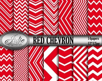 Red Chevron Background Download - Printable Red Chevron with Red Zigzag, Red patterns, Instant Download