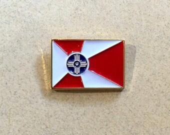Wichita Flag Lapel Pin