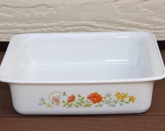 Corning Ware baking pan Wildflower pattern 8x8x2 inch P322