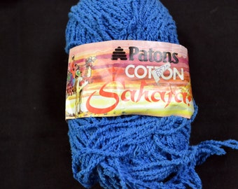 Yarn Patons Sahara Textured Cotton Royal Blue