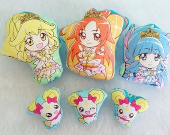 Kawaii Anime Plush Pins (6)