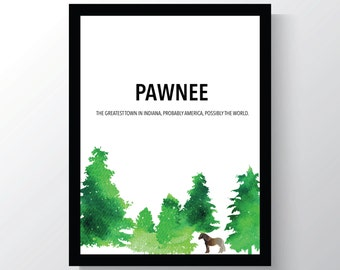 Pawnee - Parks and Recreation - 8x10 photo print - Christmas Gift for him - Lil Sebastian - Mini Horse - Wall Print art - Cheap Home Decor
