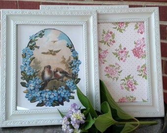Set of three upcycled picture frames. Frames for 8x10. FREE SHIPPING!!