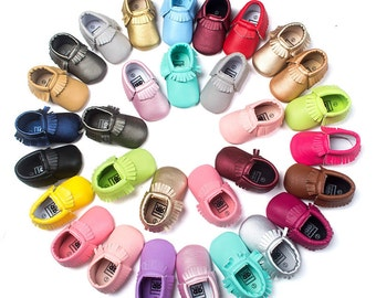 Baby Fashion Soft Sole Leather Shoes Toddler Infant Boy/Girl Tassel Moccasin