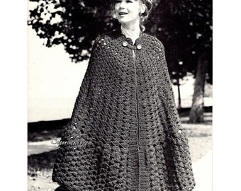 Vintage Cape crochet pattern in PDF instant download version