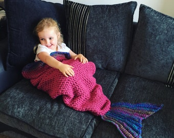 Crochet Mermaid Tail Blanket - Child to Adult