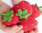 Wedidng place cards souvenirs crochet strawberries ( 20 pieces ) , home decor , rustic tale , baby shower , elegant entertaining garden
