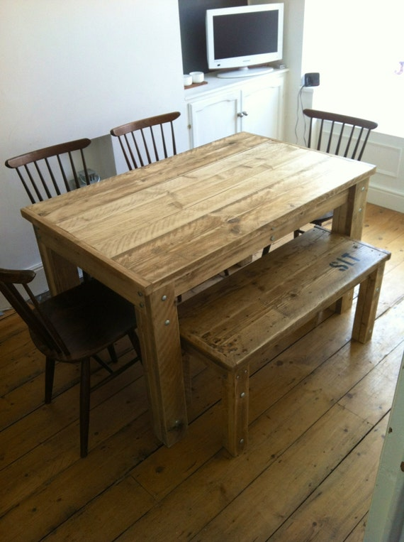 BOLTED Reclaimed Wood Dining Table : il570xN853605318mjh1 from www.etsy.com size 570 x 763 jpeg 80kB