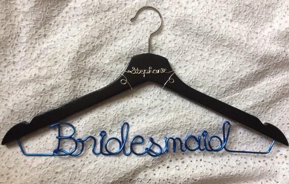 Bridemaid Stephanie hanger,wedding hanger,Personalized Hanger,Custom hanger,wire name hanger,Bridesmaids hanger,bride hanger