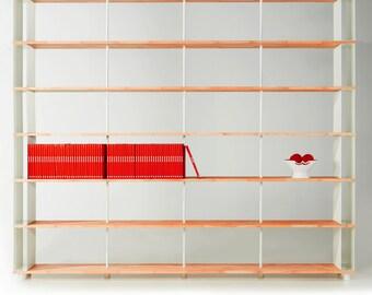 Bookcase SKAFFA WOOD Bücherregal Massiv Holz étagère H.252