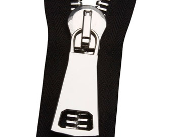 Metal No. 12 Silver Zipper