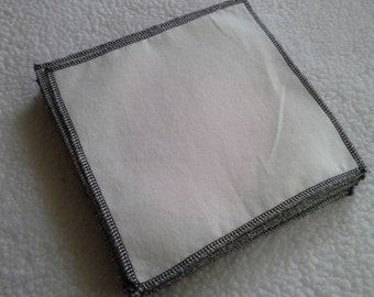 Clearance 20 ct. One-ply cloth diaper wipes. Family cloth.