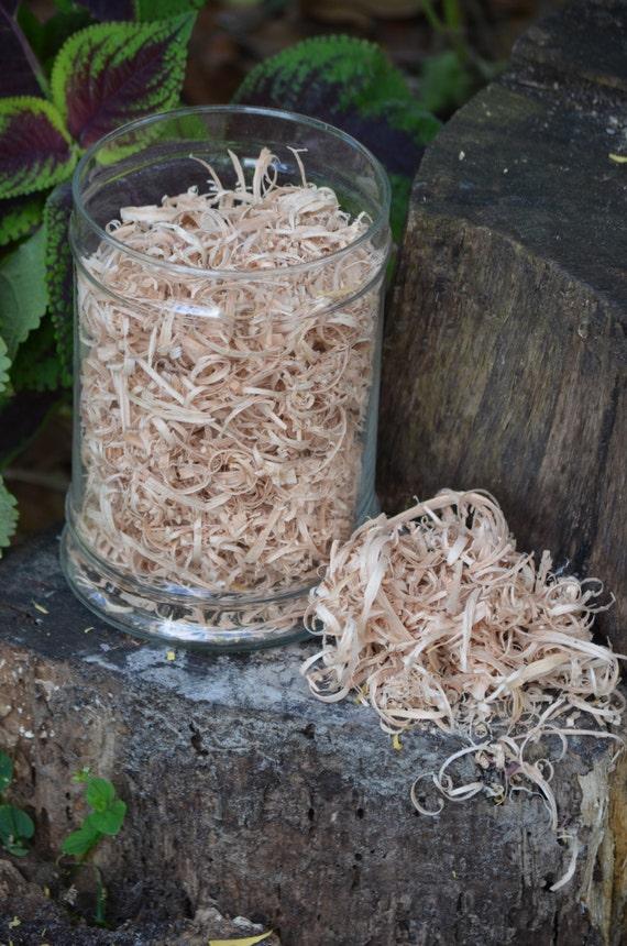 White Oak wood curls/shavings. basket filler, vase filler