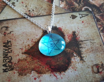 Cthulhu elder sign dicemonster bag emerald elder sign pendant necklace call of cthulhu hp lovecraft horror pentacle aloadofball Choice Image