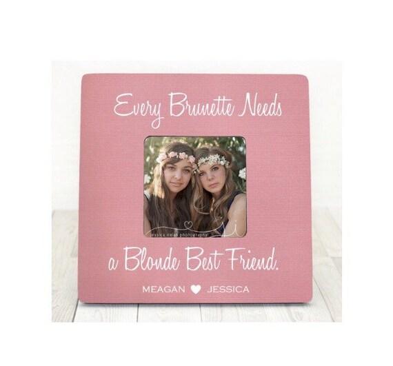 Every brunette needs a blonde best friend frame