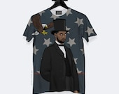 President West T-Shirt - All Over Print - Unisex - S, M, L, XL, XXL, 3XL | Made to Order |