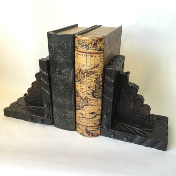 Decorative bookends gothic decor bohemian home decor - Gothic bookends ...