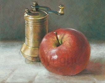Apple and pepper mill, original