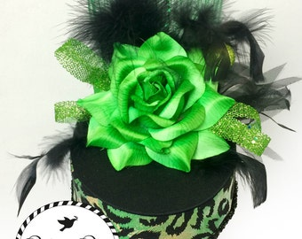 Black and Green Party Hat