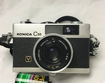 Compact and light range finder film camera.