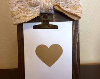Wood picture holder, rustic picture frame, recipe holder, wood picture frame.