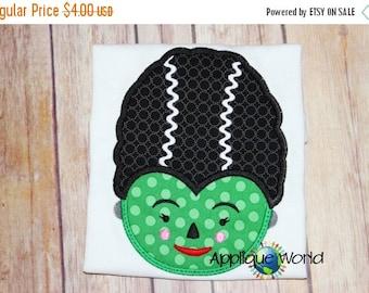 Halloween Frankenstein's Bride-Instant Digital Download Design-Machine Applique Embroidery Design-Kid Applique Pattern. Halloween Ap